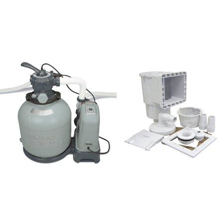 Saltwater System - Intex 2650 GPH Saltwater/Sand Filter System & Hayward Pool Skimmer & Return Kit