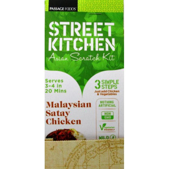 (3 Pack) Street Kitchen Malaysian Satay Chicken Asian Scratch Kit, 9 oz -  Walmart.com