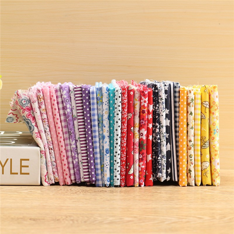 Clearnce!!! 19.69x19.69'' Mixed Pattern Cotton Fabric For DIY Craft Sewing Quilting Patchwork [5Pcs ] Can be used to make Christmas Decoration