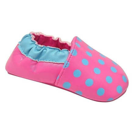 juDanzy Girls Hot Pink Turquoise Precious Polka Dot Casual Shoes ()