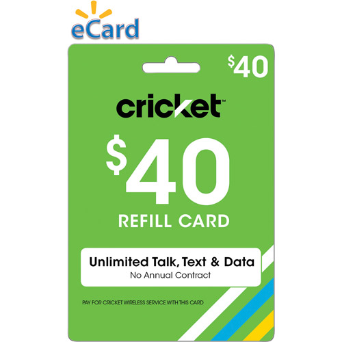 Cricket Wireless Web $40 (Email Delivery)