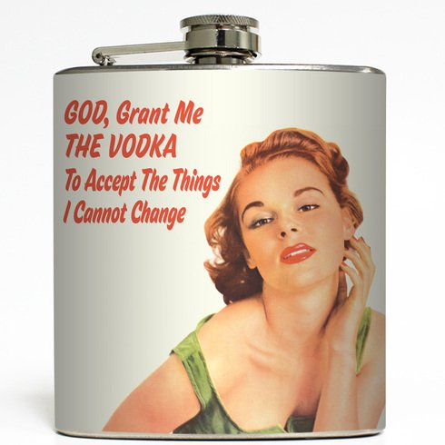 God, Grant Me The Vodka - Liquid Courage Flasks - 6 oz. Stainless Steel Flask