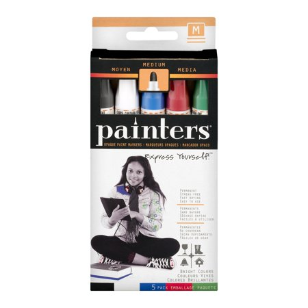 Painters opaque paint markers medium 5 ct for Craft smart acrylic paint walmart