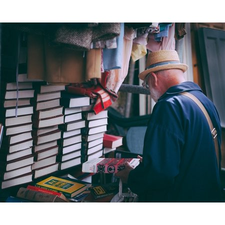 LAMINATED POSTER Man Read People Display Store Clothes Books Poster Print 24 x (Store Display Poster)
