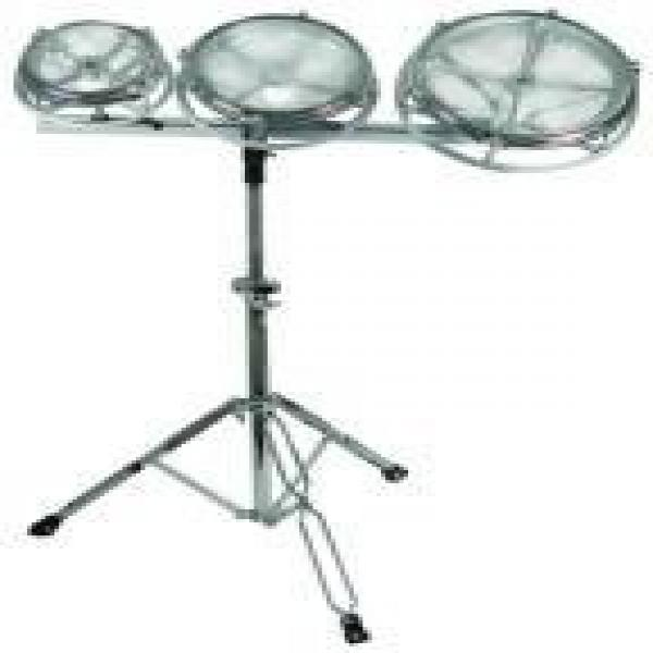 GP Percussion RT68 TunIle-Tom Drum Set with Folding Stand by