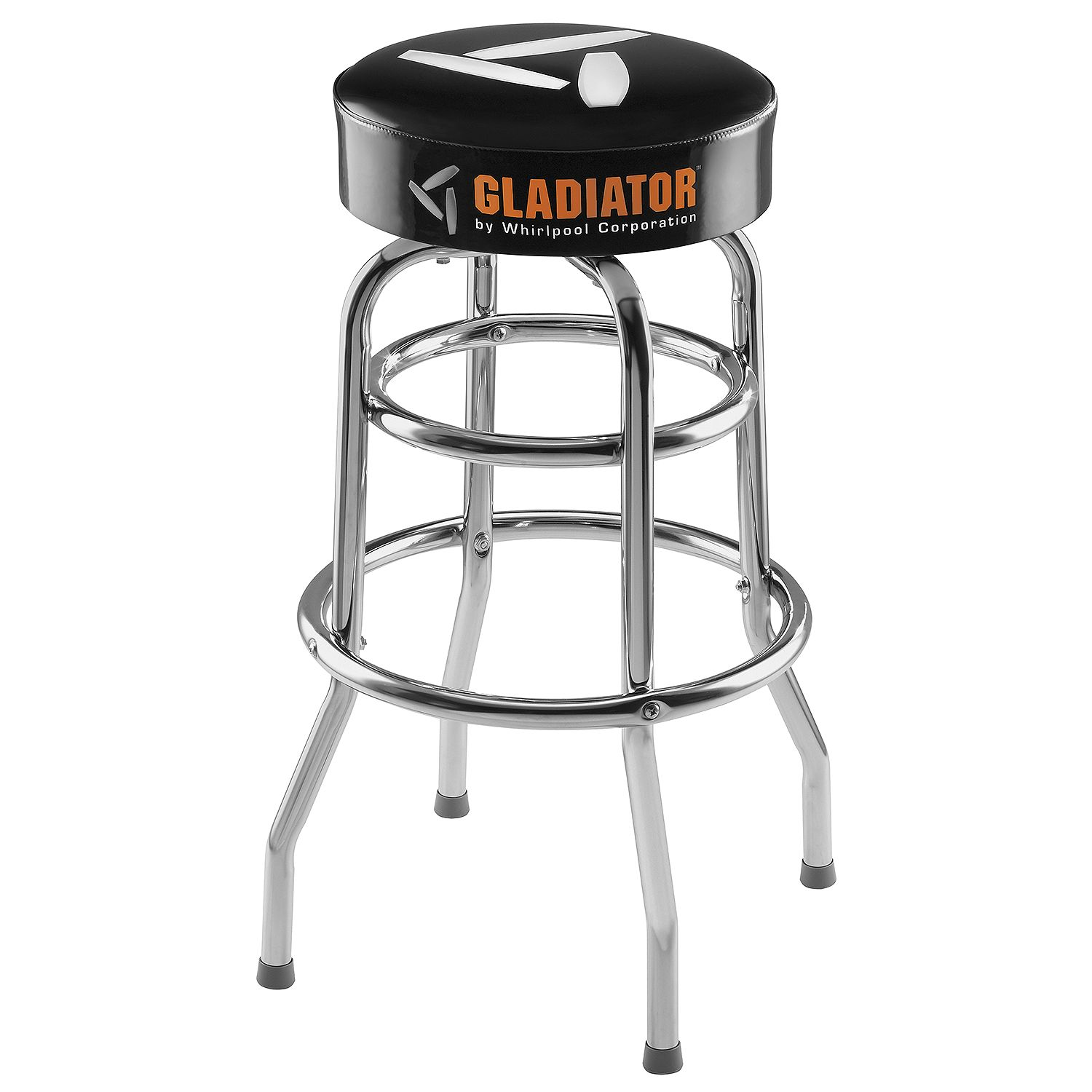 Gladiator Ready To Assemble Padded Swivel Garage Stool in...