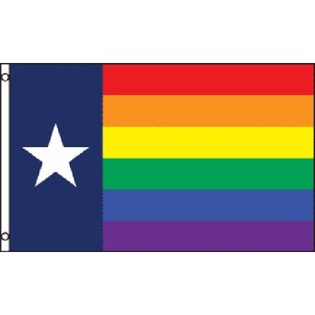Texas Rainbow Flag Gay Pride Banner Event Festival Parade Pennant LGBT New 3x5 - Gay Pride Necklace