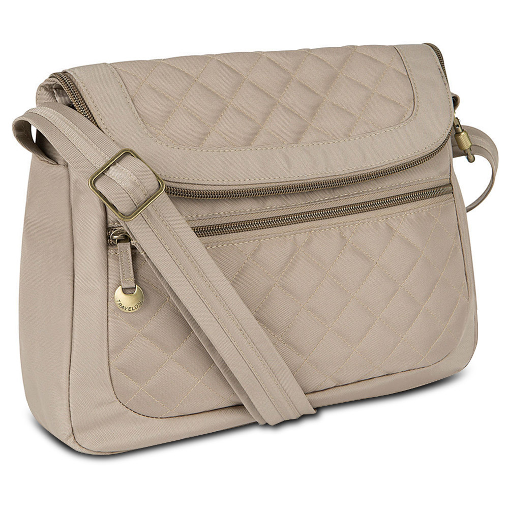 Travelon Anti-Theft Quilted Convertible Handbag with RFID Wallet, Champagne