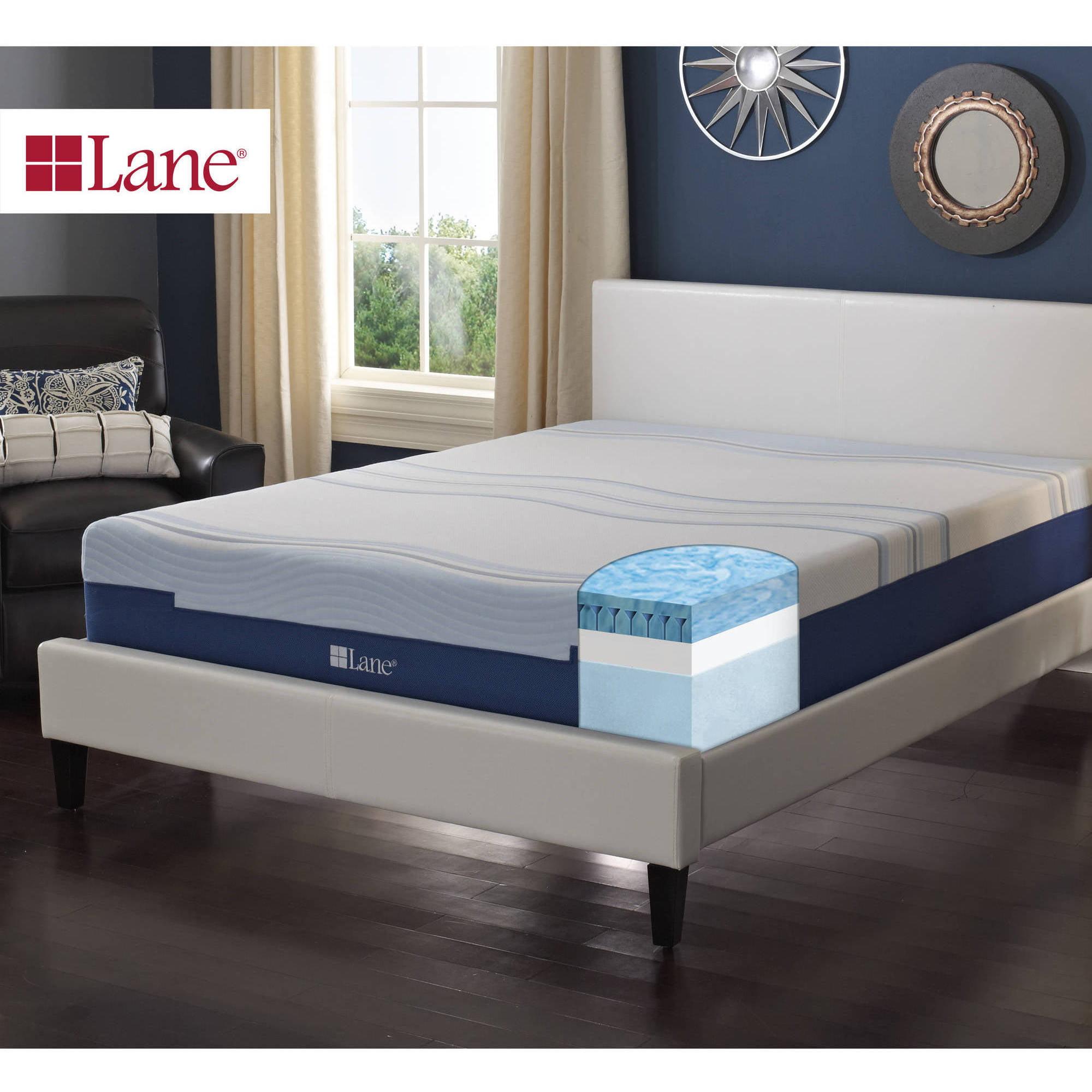 "Contura by Lane 10"" Medium Fim Gellux Fusion Engineered Latex Foam Mattress Bed"