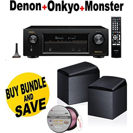 Denon AVR-X1200W 7.2 Channel Full 4K Ultra HD A V Receiver with Bluetooth and Wi-Fi + Onkyo SKH410 + Monster... by