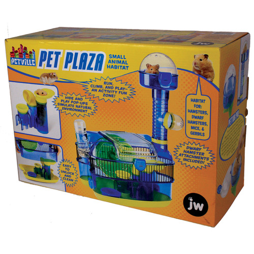 JW Pets PetVille Small Animal Habitat Plaza