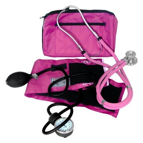 Dixie EMS Blood Pressure and Sprague Stethoscope Kit, Pink NEW FREE SHIPPING