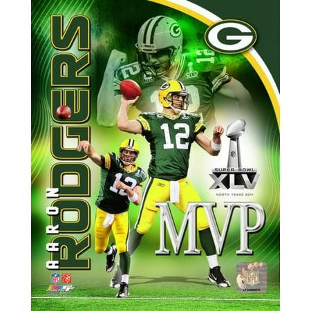 Aaron Rodgers Super Bowl Xlv Mvp Portrait Plus Photo Print