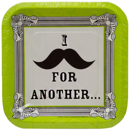 I Love Mustaches Small Paper Plates (15ct) for $<!---->