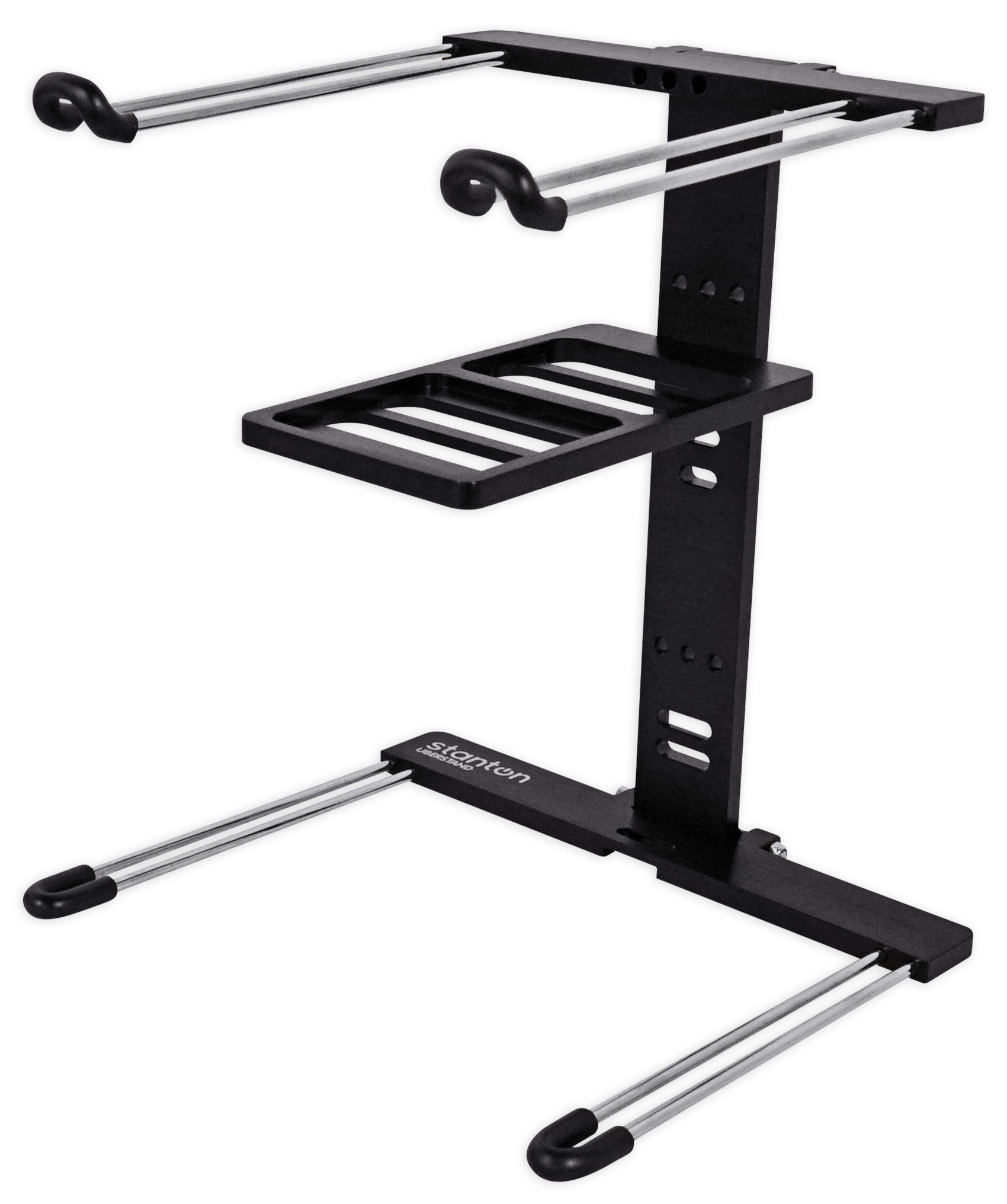 Brand New Stanton Black UBERSTAND Foldable DJ Laptop Stand Lightweight Portable by Stanton