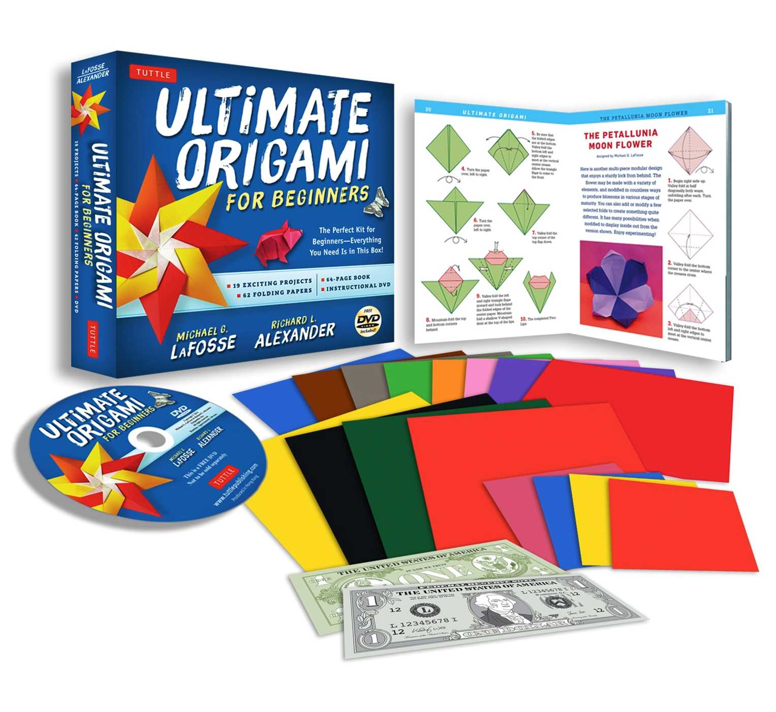 Ultimate Origami for Beginners Kit : The Perfect Kit for Beginners-Everything you Need is in This Box!: Kit Includes Origami Book, 19 Projects, 62 Origami Papers & DVD