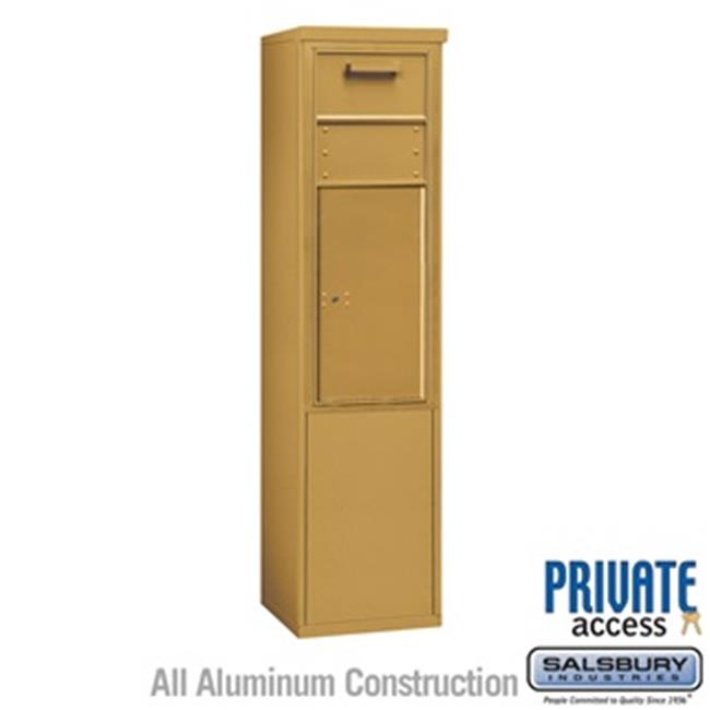 Salsbury 3911S-1CGF 69 - 0.25 in. 11 Door High Unit Single Column Free Standing 4C Horizontal Collection Box, Gold - Front Access