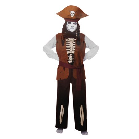 Skeleton Pirate Child Costume ()