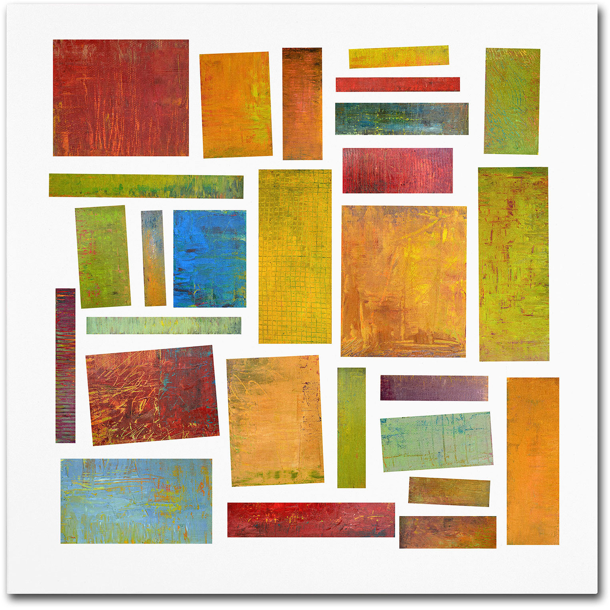 "Trademark Fine Art ""Building Blocks Two"" Canvas Art by Michelle Calkins"