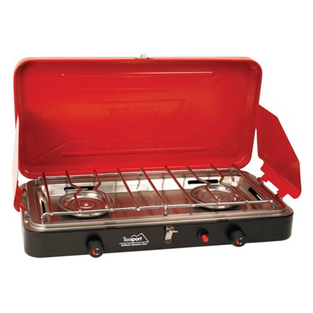 Texsport Kamen Super High Output Dual Burner Insta-Light Propane Camp Stove