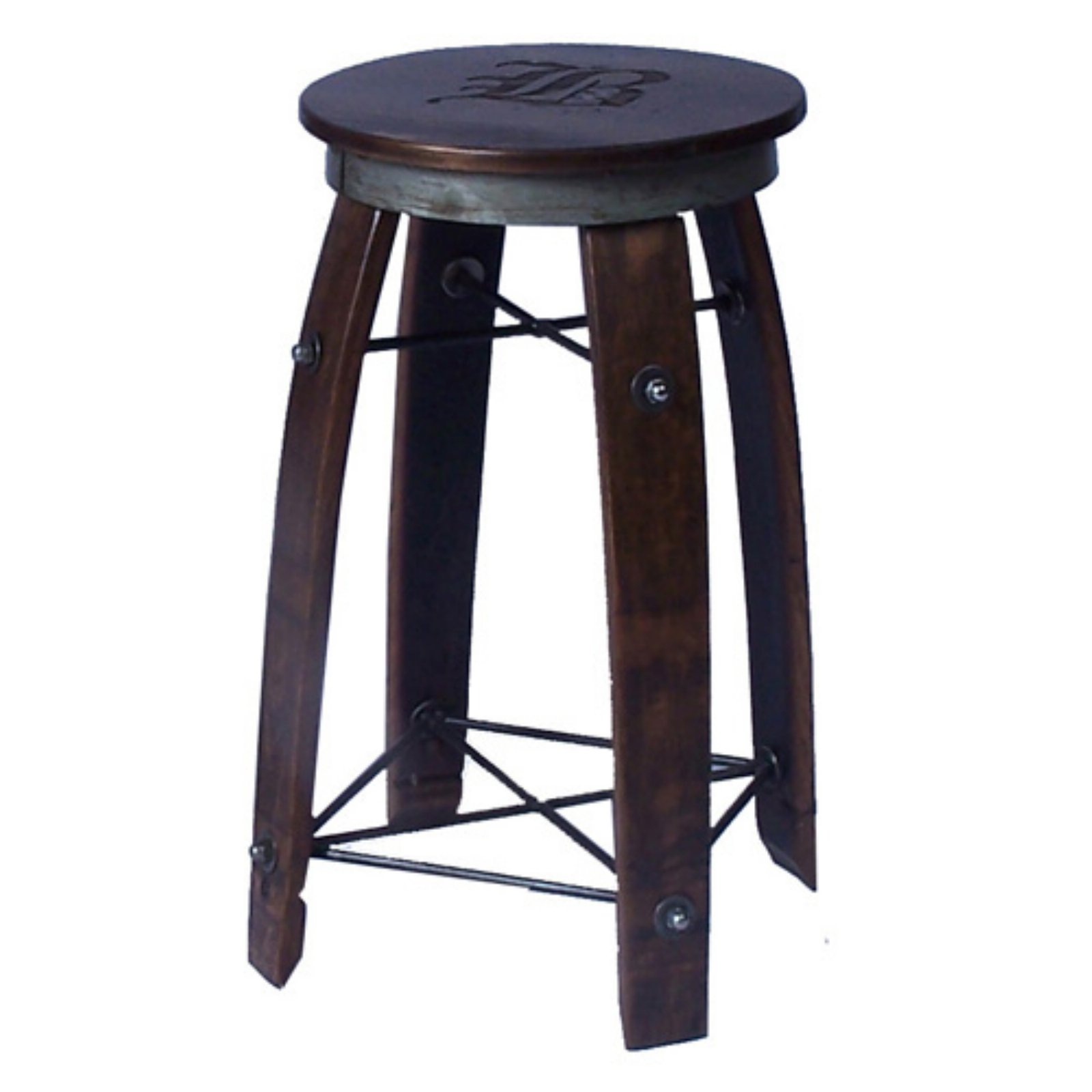 2 Day Designs Backless 28 in. Daisy Stave Counter Stool
