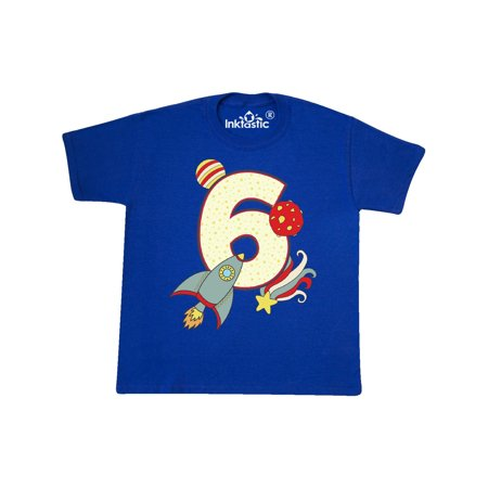 6th Birthday Outer Space Theme Youth T-Shirt (Outer Space Birthday)