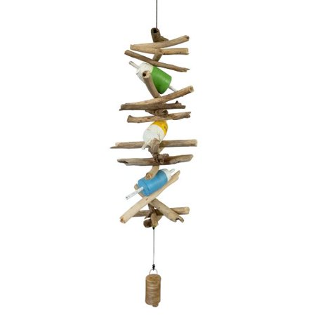 Cohasset Gifts & Garden Wooden Triple Fish Float Bell