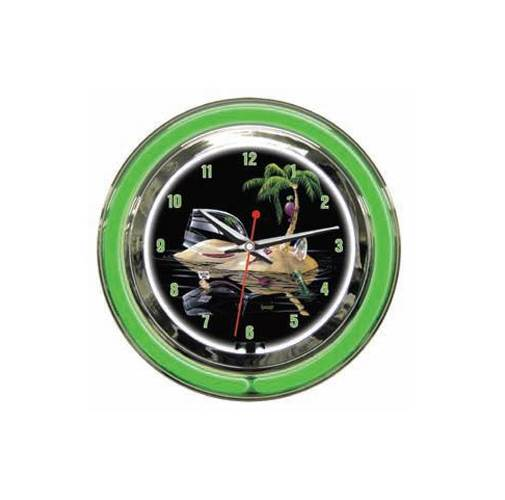Lost in Paradise Clock