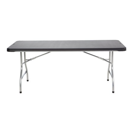 Lifetime 6' Commercial Grade Stacking Folding Table, Black ()