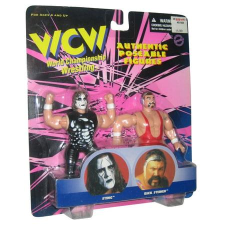 WCW WWE Sting & Rick Steiner Figure Set (1998) Vintage Wrestling](Wwe Sting)