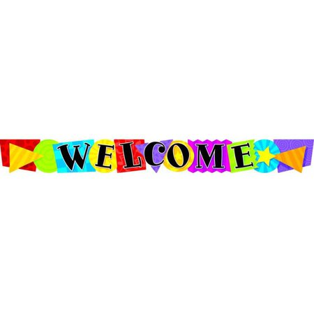 Trend Enterprises Welcome, Frog-Tastic Quotable Expressions Die-Cut Banner, - Frog Banner