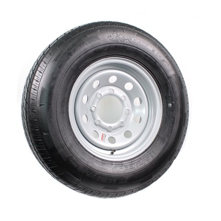 eCustomrim Trailer Tire On Rim ST235/85R16E 3640 Lb. 16X6 8-6.5 Modular Silver