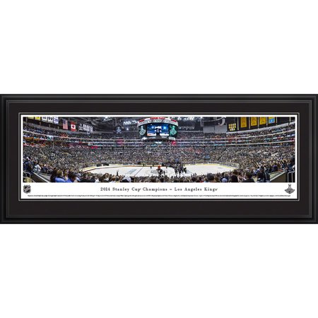 2014 Stanley Cup Champions Los Angeles Kings Blakeway Panoramas NHL Print with Deluxe Frame and Double Mat by