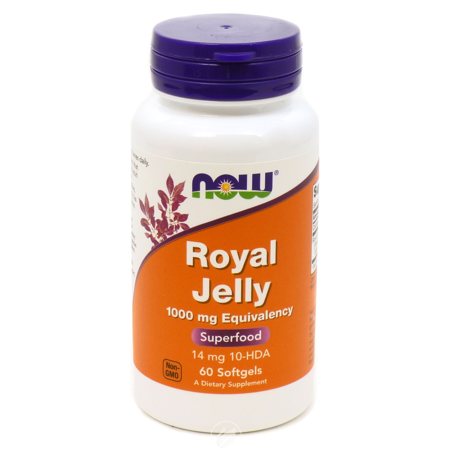 Now Foods Royal Jelly 1000mg Freeze-Dried, 60 softgels, Pack of 2