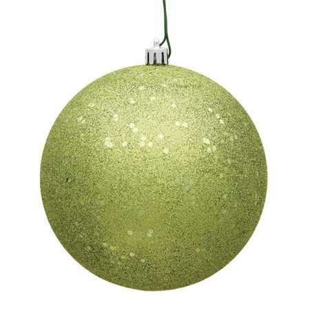Vickerman N592573DQ 10 in. Lime Sequin Drilled Cap Christmas Ornament Ball - image 1 de 1