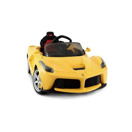 La Ferrari Ride on Remote Control electric power car for kids 12 Volt LED lights MP3 Engine sounds sport design - (Ferrari Toy Car)