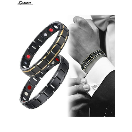 Spencer Fashion Titanium Magnetic Therapy Bracelet for Men Women Energy Health Care Bracelet Pain Relief for Arthritis and Carpal Tunnel