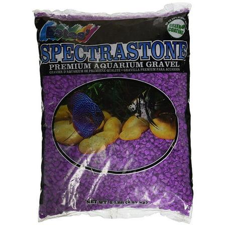 spectrastone permaglo lavender aquarium gravel for freshwater aquariums, 5-pound