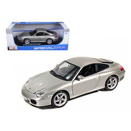 Porsche 911 Carrera 4S Silver 1/18 Diecast Model Car by