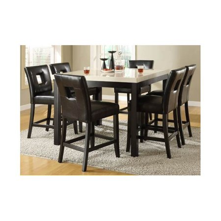 Archstone 5 Pc Counter Height Dining Table Set Black