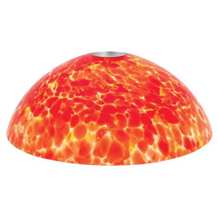 Access Lighting Fire Bowl Glass Shade - 965RJ-RED
