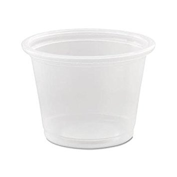 Dart 100PC, 1 Oz Conex Clear Complements Portion Polypropylene Container, Plastic Condiment Cups with Lids, Souffle Portion, Jello Shot Cups, Salad Dressing, Sauce Containers (50)