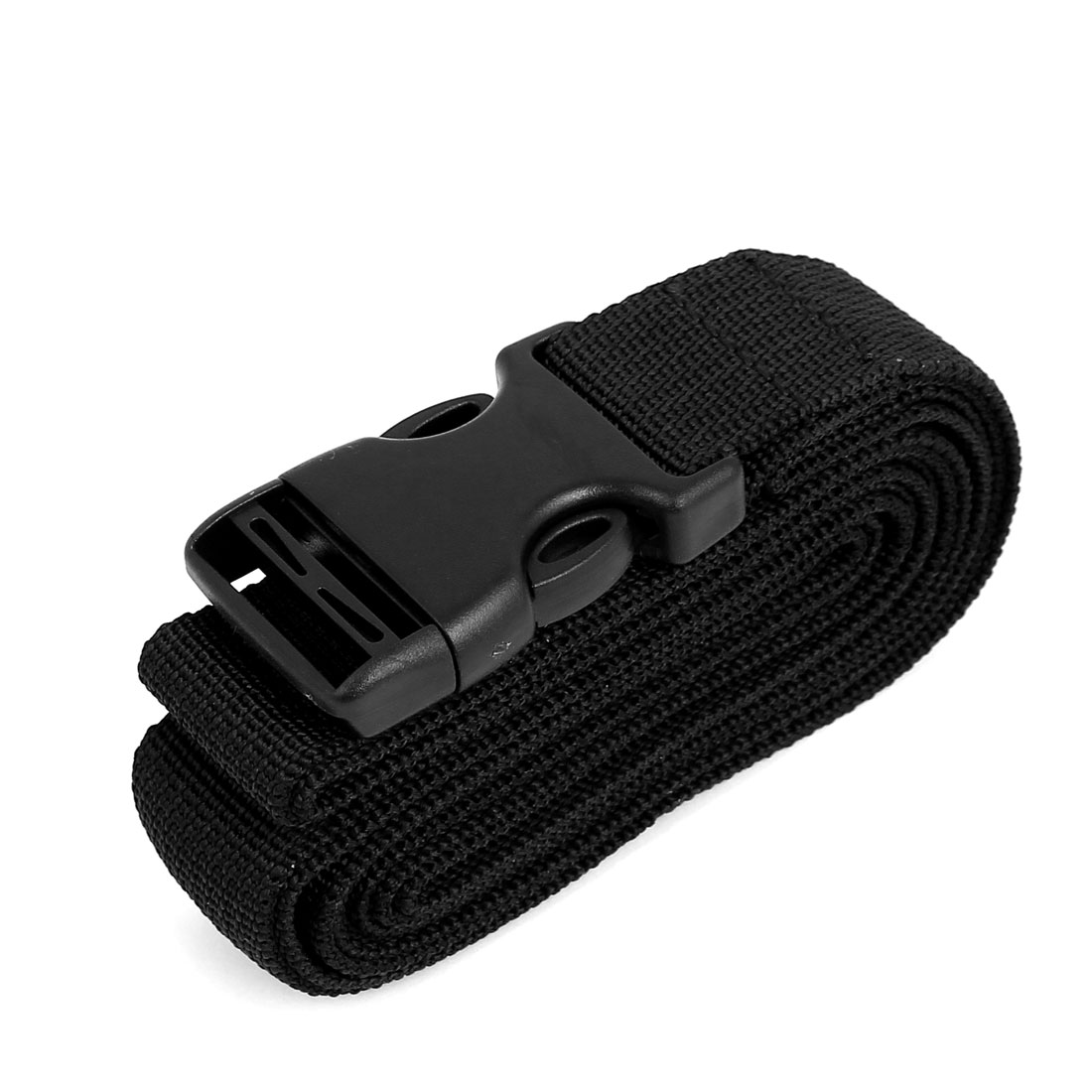 Side Release Buckle Luggage Suitcase Backpack Baggage Belt Strap Black 2M x 25mm