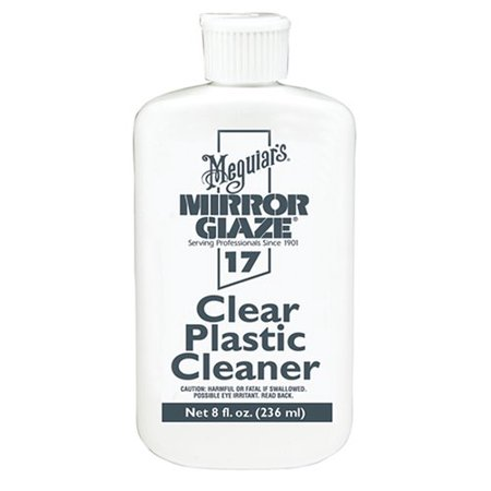 Meguiar's 8oz Mirror Glaze Clear Plastic Cleaner Fine Scratch (Best Plastic Polish Scratch Remover)