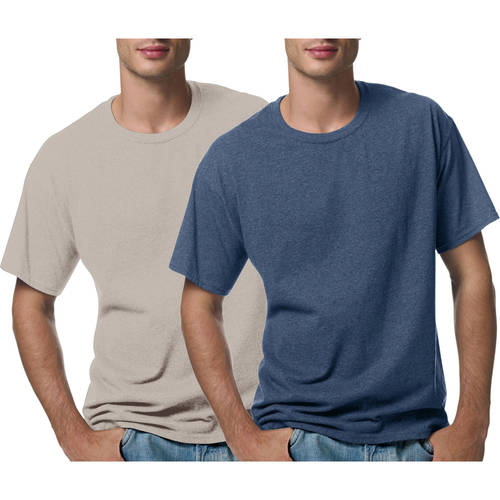 Hanes Men's Short Sleeve EcoSmart T-shirt, 2 Pack
