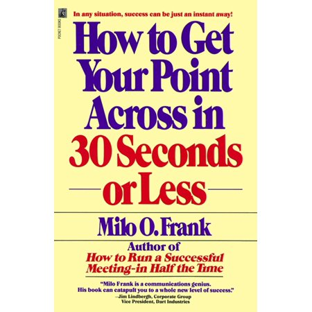 How to Get Your Point Across in 30 Seconds or