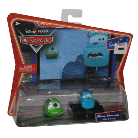 Disney Pixar Cars Movie Moments Mike & Sulley Monsters Inc Car Toy Vehicle Set - Disney Cars Movie