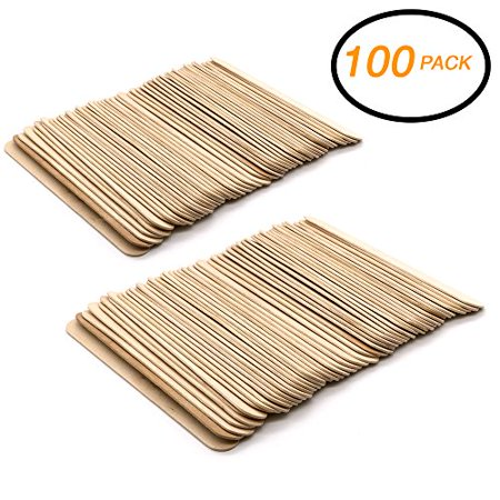 Emraw Jumbo Natural Craft Wood Stick 100 Pieces Long Craft Sticks Wood Handles Wedding Fan Craft Sticks Ice Cream Popsicle Sticks for Crafts Unfinished Natural Wood Craft (Halloween Crafts Popsicle Sticks)