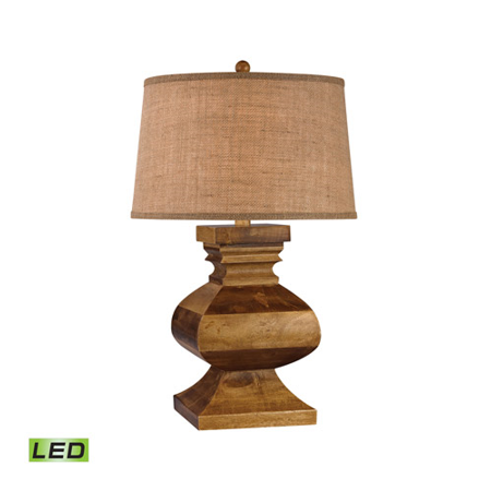 Table Lamps 1 Light With Dark Russian Oak Finish Wood Material LED Bulb Type 29 inch 9.5 Watts