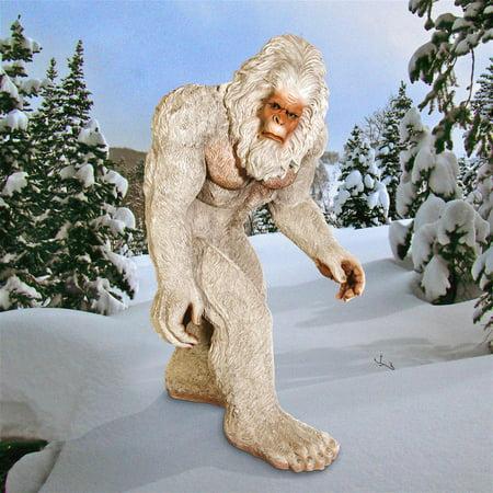 Fiberglass Snowman - Design Toscano The Abominable Snowman Life-Size Yeti Statue